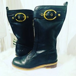 Lucky Brand Black Lucky Peace Love Tall Boots